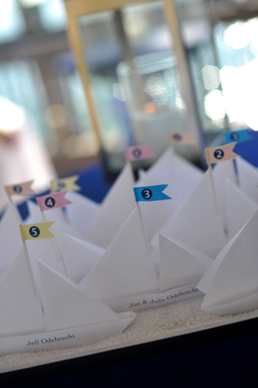 sailboat place cards Key West, Florida Destination Wedding