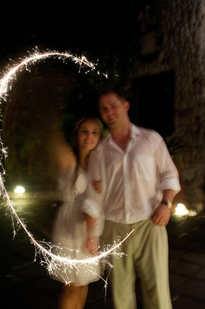 sparklers at weddings Costa Rica Destination Wedding at Zephyr Palace