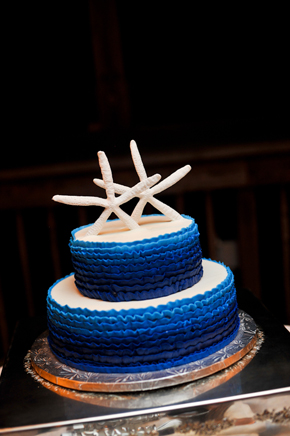 starfish cake Key West, Florida Destination Wedding