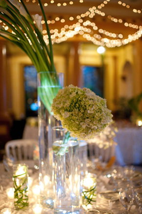 tall white centerpieces Costa Rica Destination Wedding at Zephyr Palace