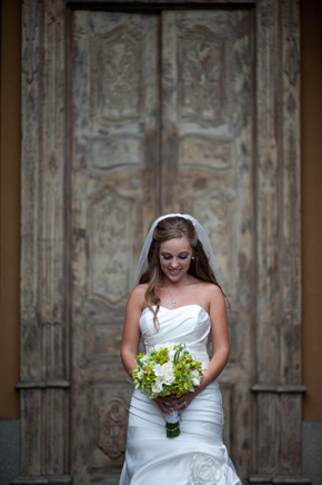 white and green bridal bouquet Costa Rica Destination Wedding at Zephyr Palace