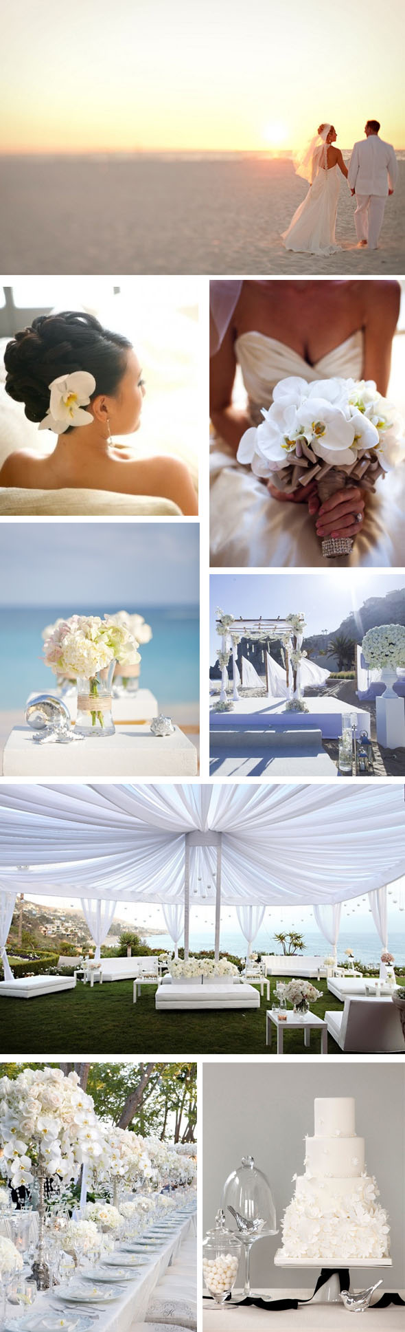 white beach weddings White Weddings