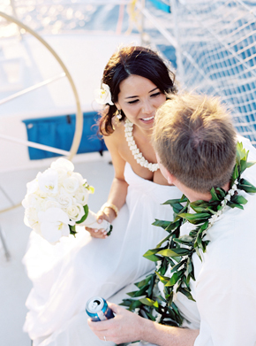 yacht charter wedding maui Maui, Hawaii Destination Wedding on a Boat