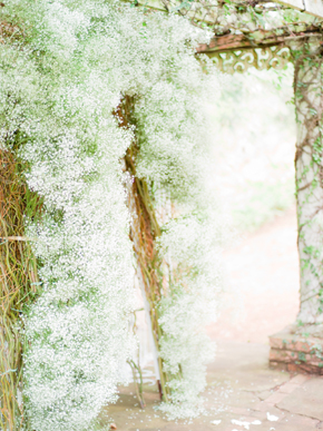 babys breath ceremony arch Bellefield Great House, Montego Bay, Jamaica Wedding Inspiration