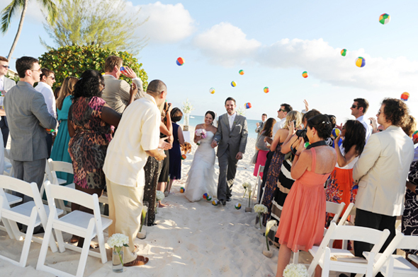 beach wedding beach balls