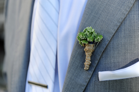 beach wedding boutonniere Seven Mile Beach, Grand Cayman Destination Wedding