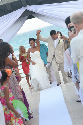beach wedding cancun Destiation Wedding in Puerto Morelos, Mexico