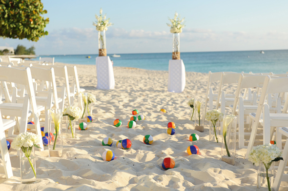 beach wedding grand cayman