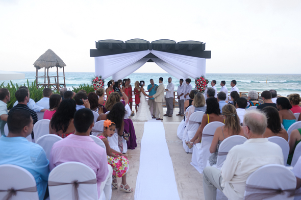 beach wedding mexico Destiation Wedding in Puerto Morelos, Mexico