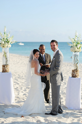 beach wedding1 Seven Mile Beach, Grand Cayman Destination Wedding