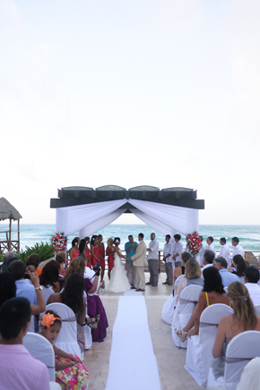 beach weddings mexico Destiation Wedding in Puerto Morelos, Mexico
