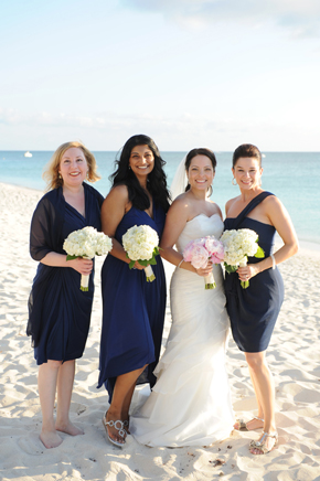 blue bridesmaid dress Seven Mile Beach, Grand Cayman Destination Wedding