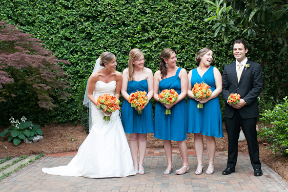 blue bridesmaid dresses Map Inspired Destination Wedding Re Run