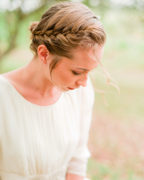 braided wedding hair Bellefield Great House, Montego Bay, Jamaica Wedding Inspiration