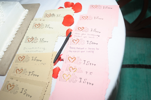 creative guest book sign ins Destiation Wedding in Puerto Morelos, Mexico