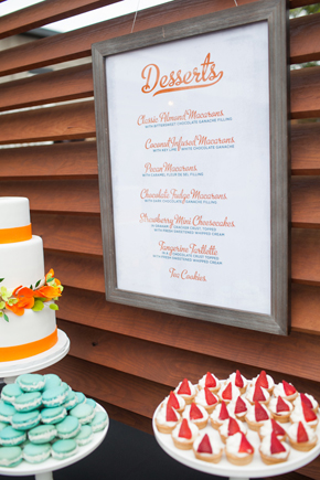 dessert menu ideas Map Inspired Destination Wedding Re Run