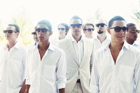 destination wedding groomsmen Destiation Wedding in Puerto Morelos, Mexico