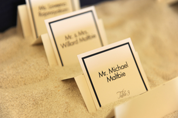 destination wedding place cards Seven Mile Beach, Grand Cayman Destination Wedding