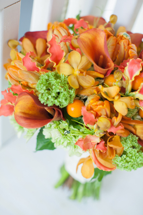 orange bouquet Map Inspired Destination Wedding Re Run