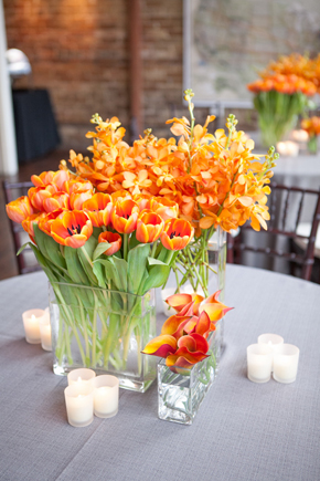 orange centerpieces Map Inspired Destination Wedding Re Run