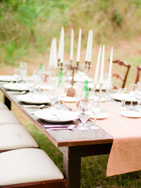 rustic wedding tables Bellefield Great House, Montego Bay, Jamaica Wedding Inspiration