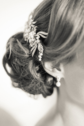 side bun wedding up do