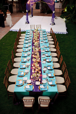 teal and purple weddings