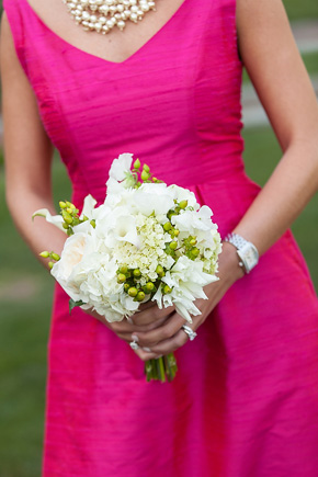 Pink and Green Country Club Wedding in South Carolina The
