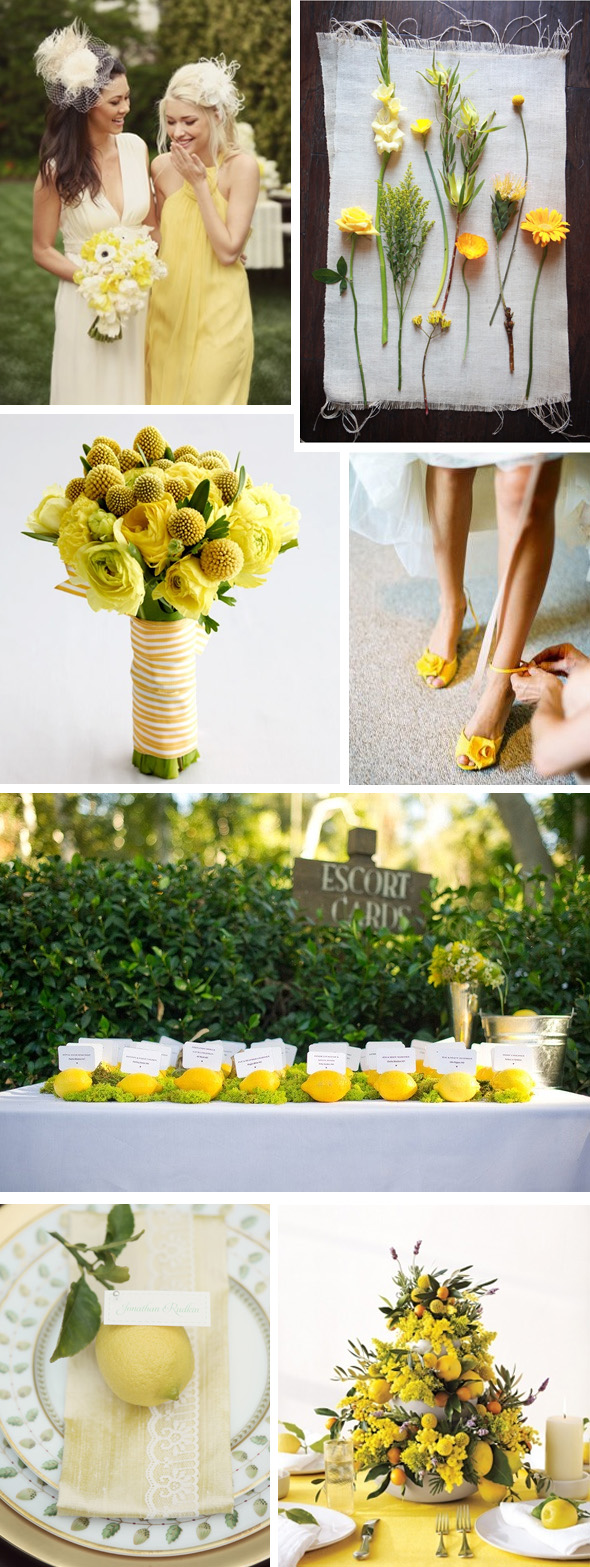 yellow lemon weddings
