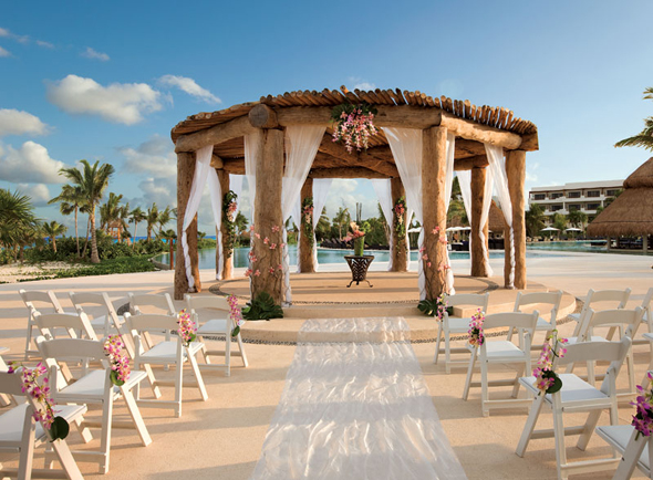Secrets Maroma Wedding Gazebo Love at First Site Weddings