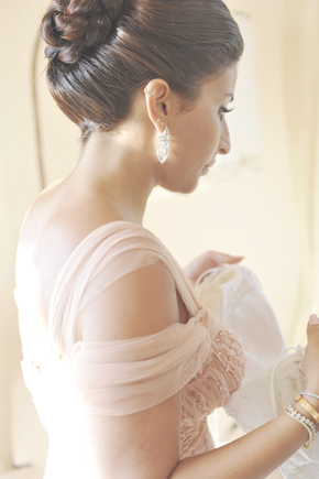 bridesmaid up do Formal Destination Wedding in Italy