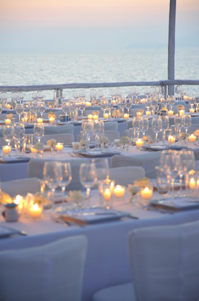 candlelit wedding Formal Destination Wedding in Italy