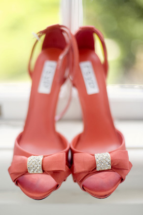 coral wedding shoes Destination Wedding in Sintra, Portugal
