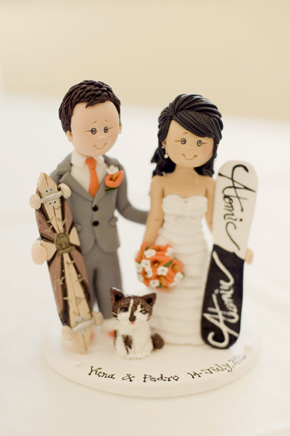 custom wedding cake topper Destination Wedding in Sintra, Portugal