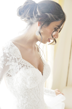 long sleeve wedding dress Formal Destination Wedding in Italy