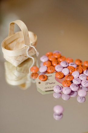 m&m wedding favor