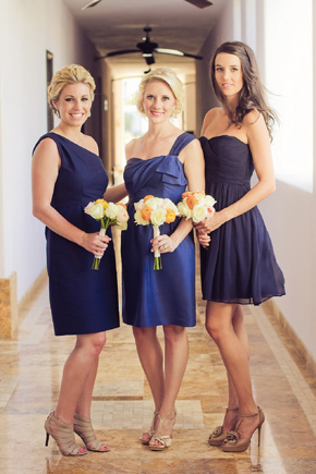 navy blue bridesmaid dresses Cabo Azul Resort Destination Wedding in Mexico