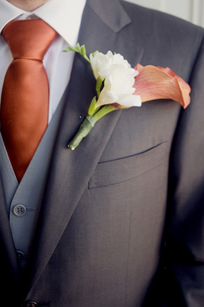 orange groomsmen ideas