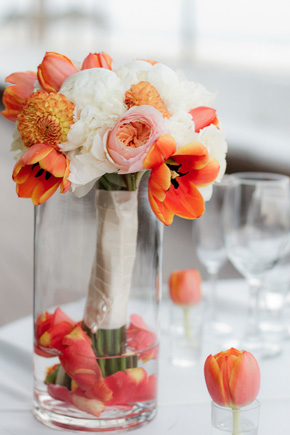 peach bouquet Cabo Azul Resort Destination Wedding in Mexico