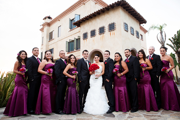 purple and red wedding Destination Wedding in Rosarito, Mexico
