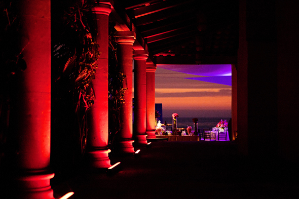red wedding lighting Destination Wedding in Rosarito, Mexico