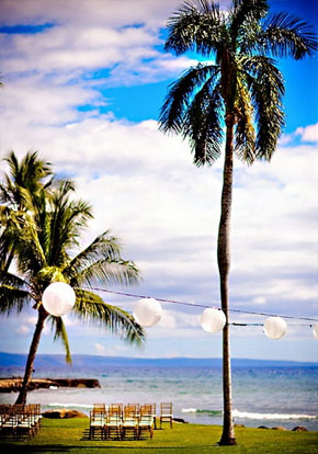 tropical maui weddings Olowalu Plantation House, Maui, Hawaii