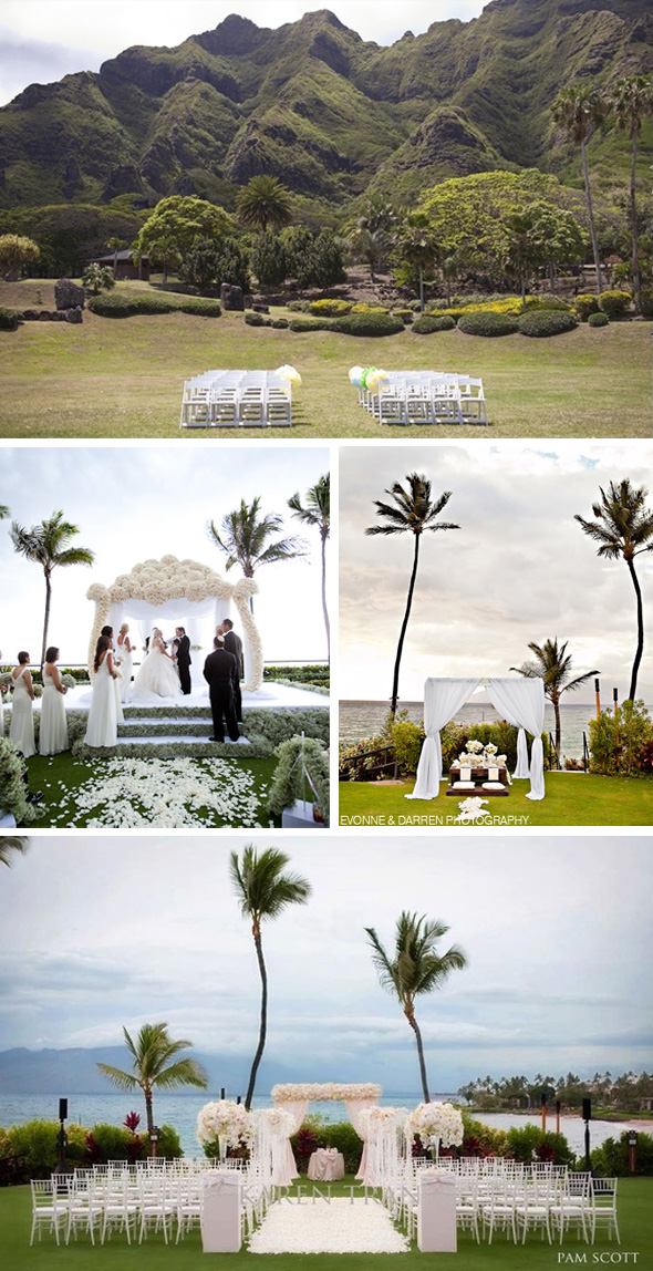 tropical white weddings