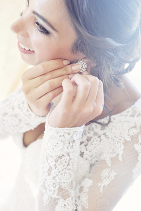 wedding day hair and makeup Formal Destination Wedding in Italy