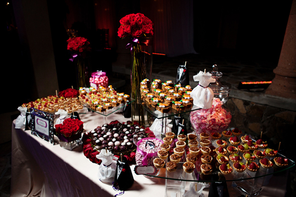 wedding dessert bar Destination Wedding in Rosarito, Mexico