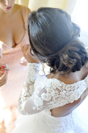 wedding hair Formal Destination Wedding in Italy