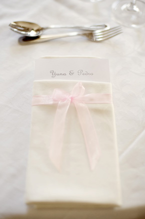 wedding napkin treatment