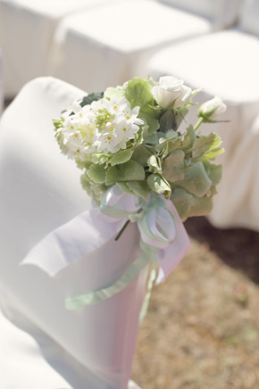 white ceremony flowers