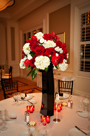 black red and white weddings
