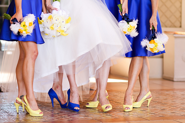 blue bridesmaid dress Lake Las Vegas Destination Wedding